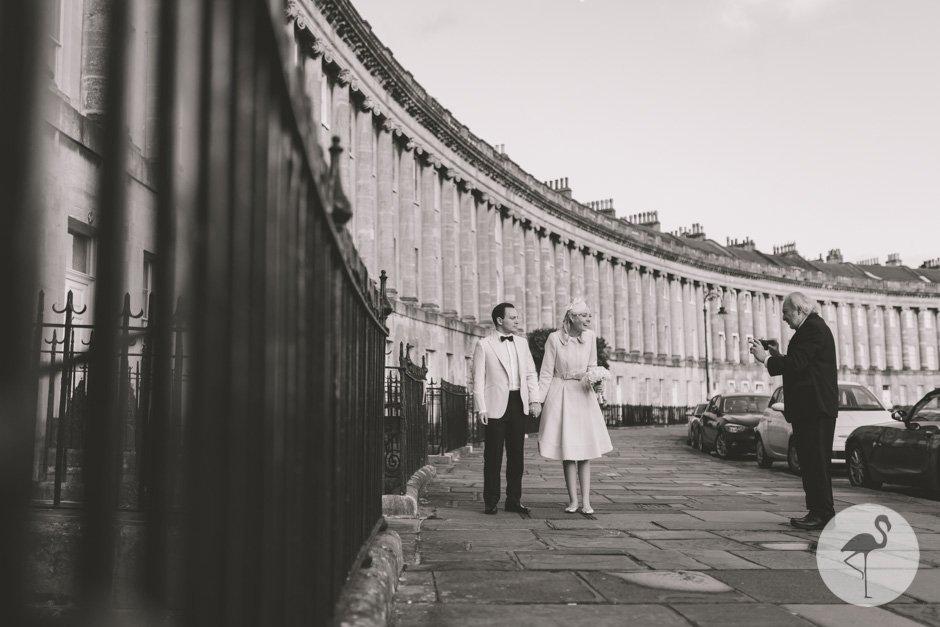 Royal Crescent hotel Bath wedding photography