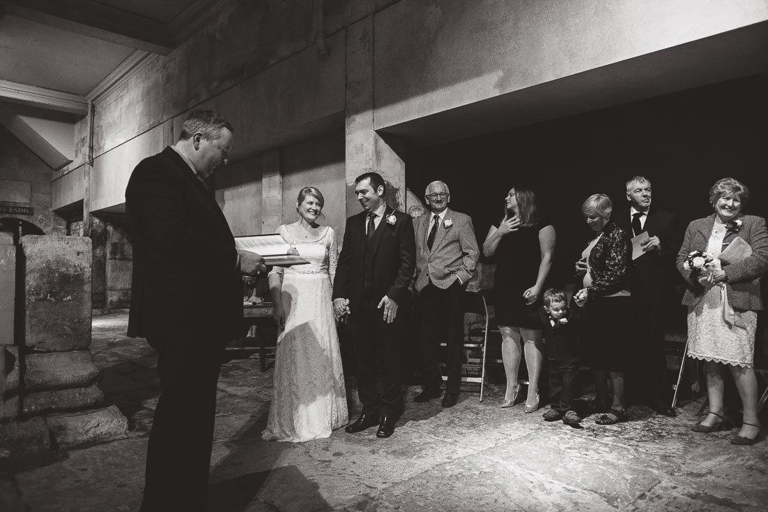 Evening wedding at the Roman Baths