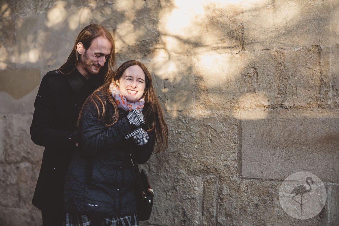 Winter engagement shoot in Bath with Darryl & Cat