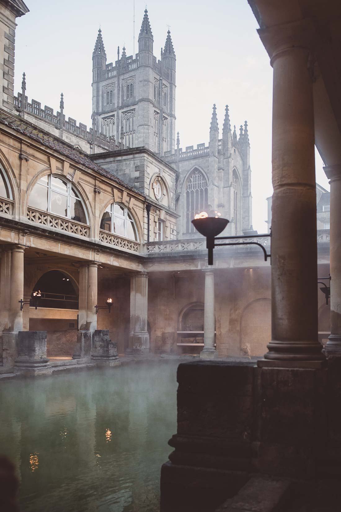 Sunrise Ceremony at The Roman Baths