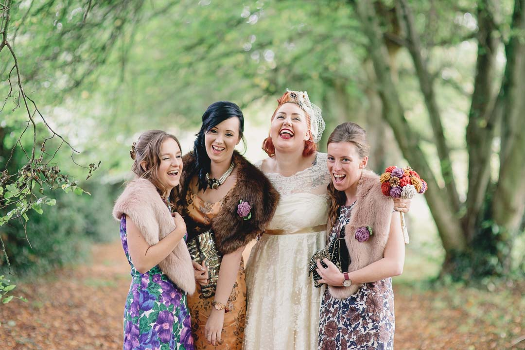 Vintage wedding at North Hidden Barn Hungerford