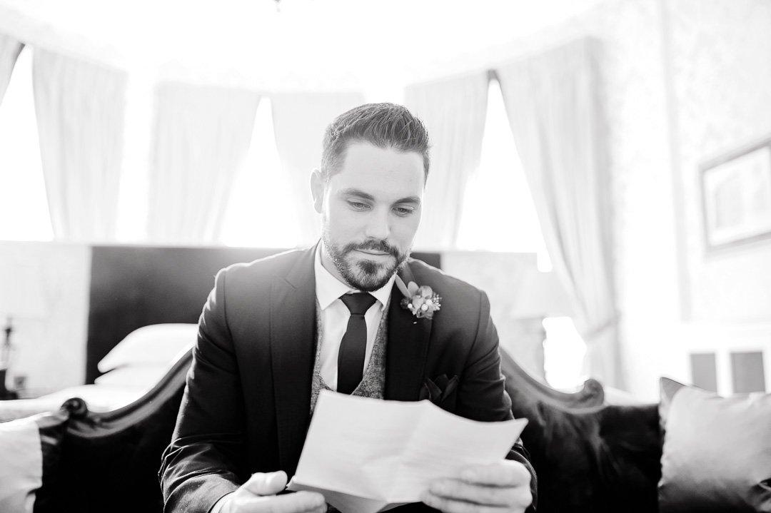 Liam read his vows
