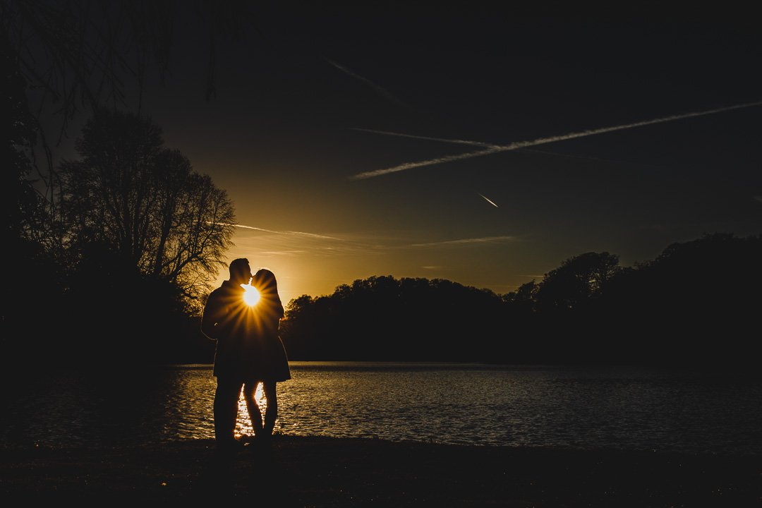 Sunset photo at Stourhead Gardens