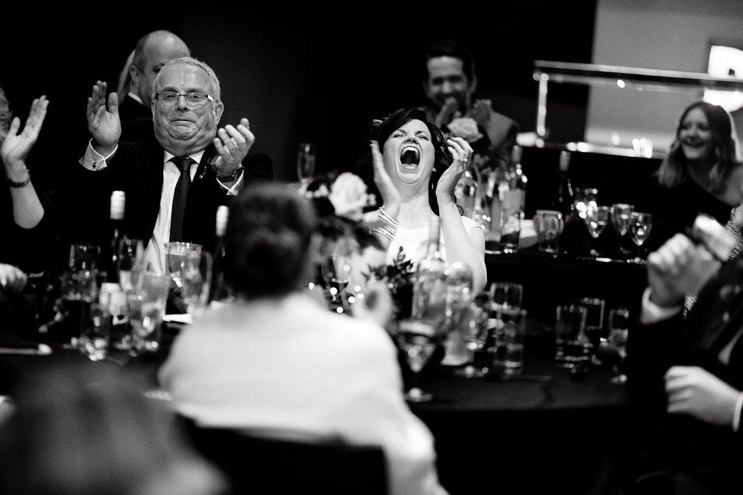 Circomedia wedding Bristol bride laughing