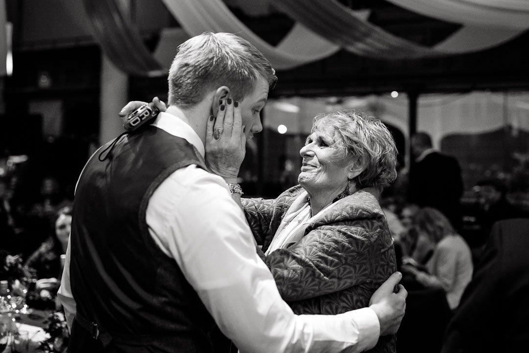 Circomedia wedding Bristol, Groom and Mother