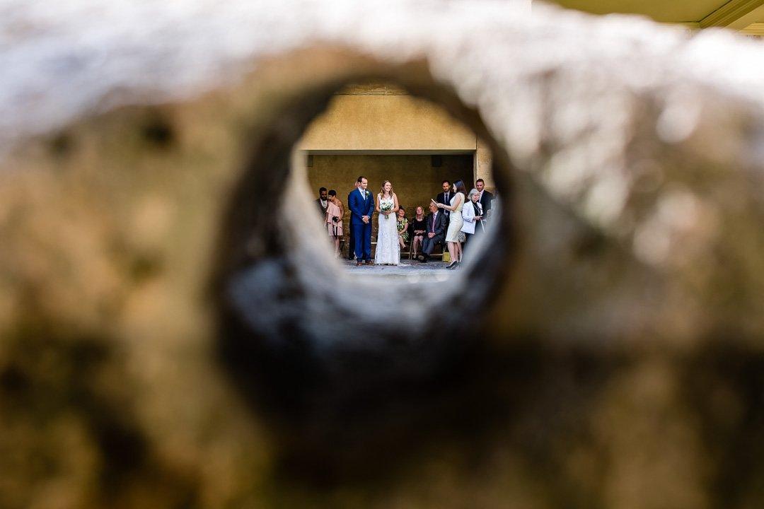 arty shot of wedding ceremony