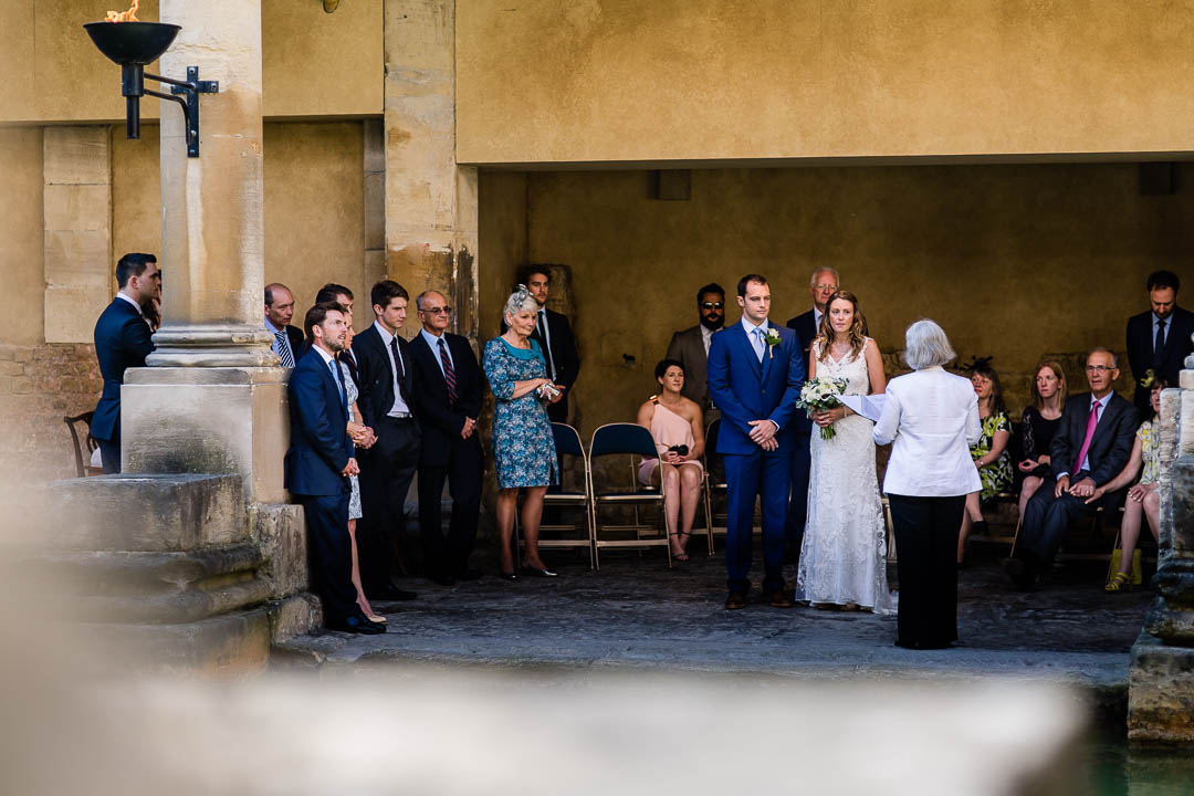 the ceremony at the roman baths