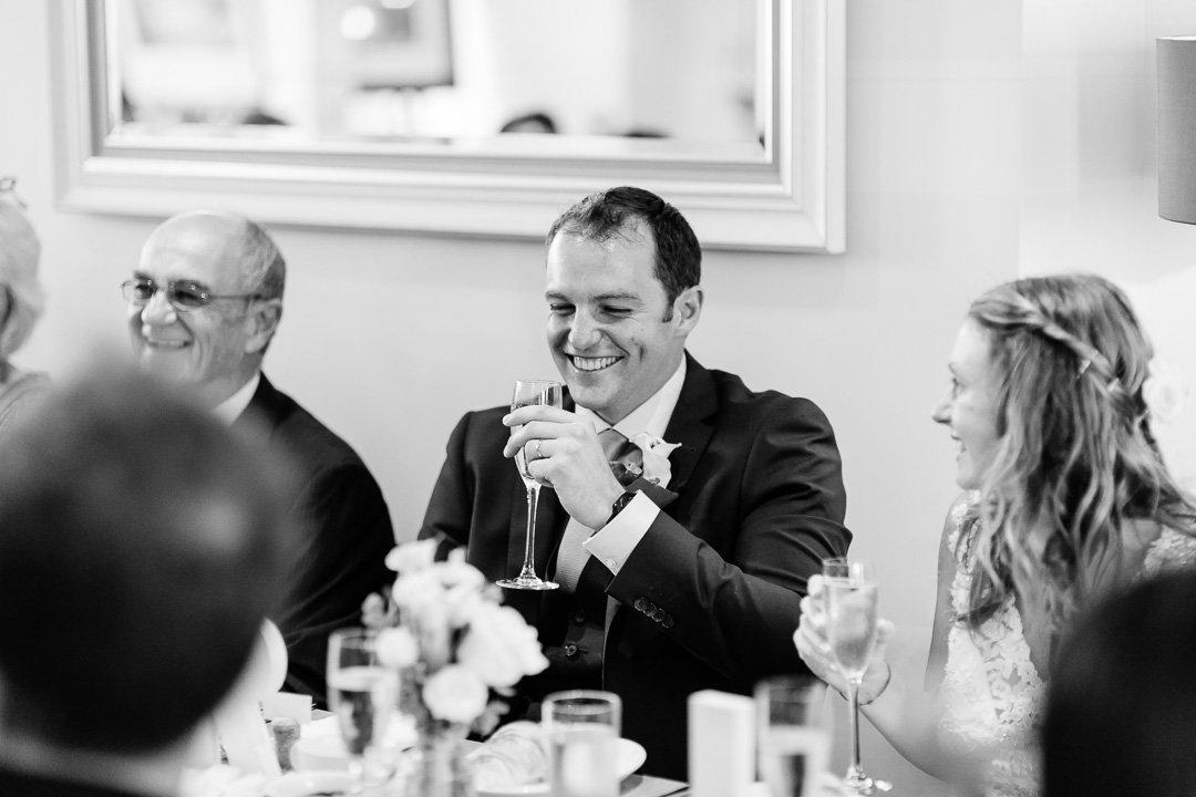 groom laughs