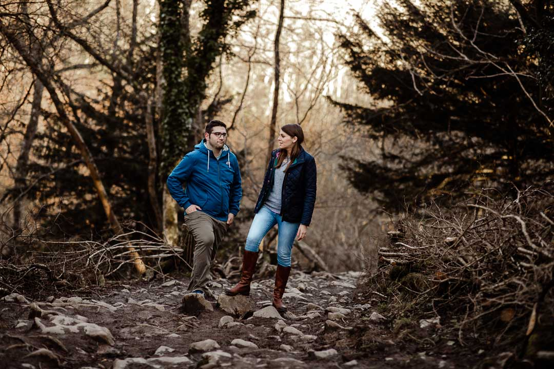 Kerry & Rob exploring the woods