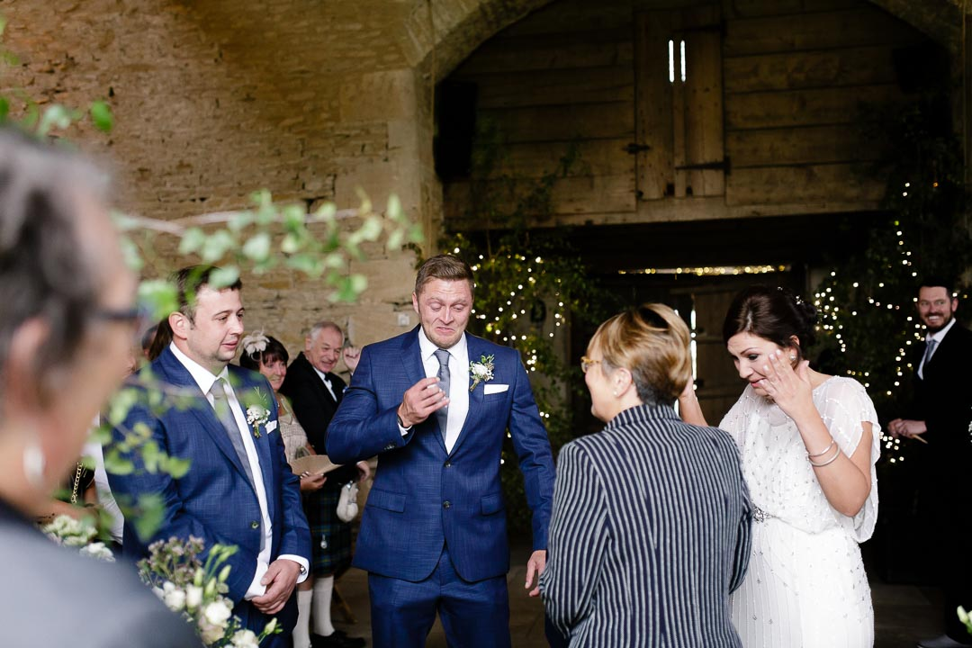 tears atWedding at Cripps Stone barn
