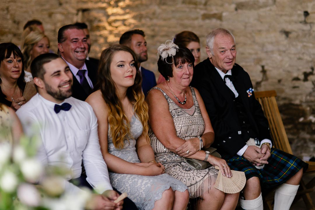 proud mother Wedding at Cripps Stone barn