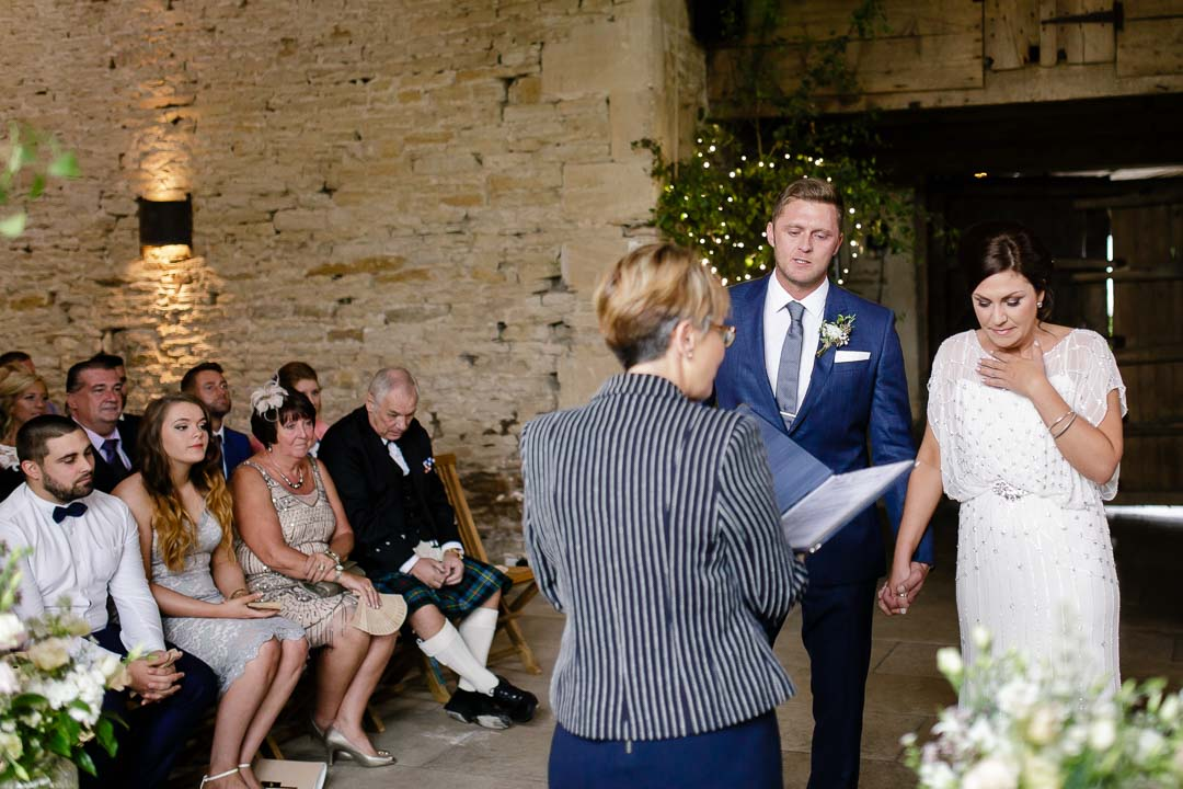 just married Wedding at Cripps Stone barn