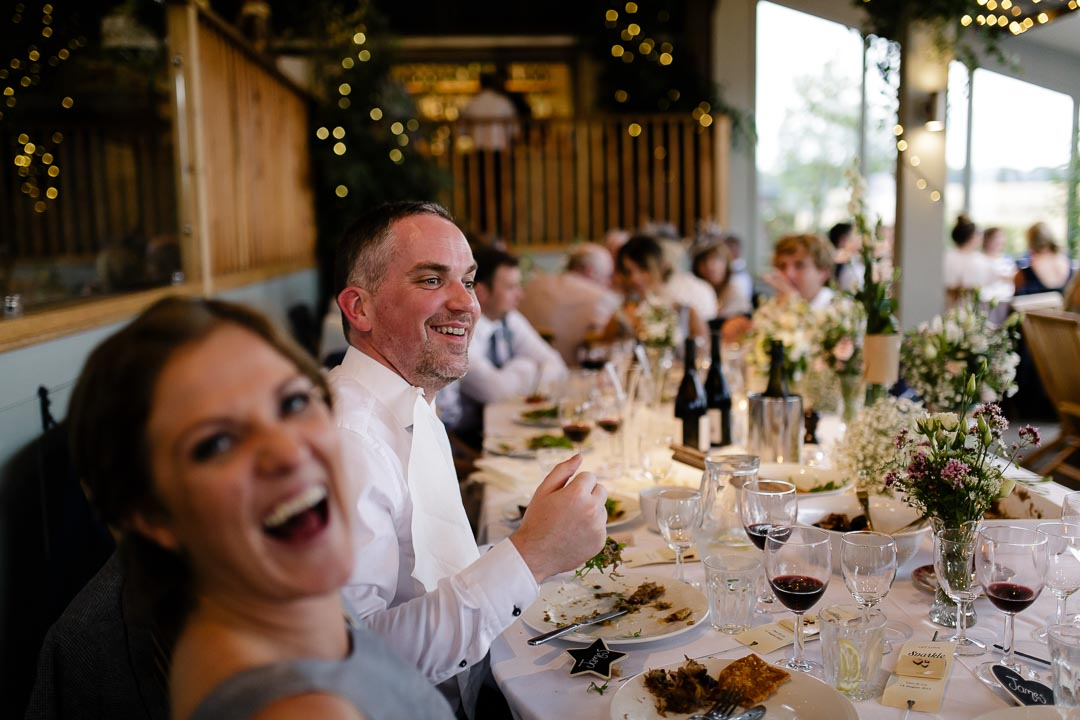 laughter Wedding at Cripps Stone barn