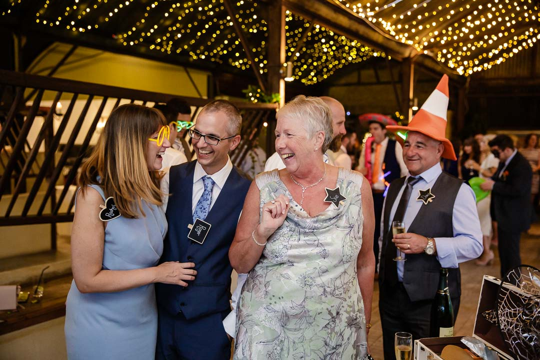 evening party Wedding at Cripps Stone barn