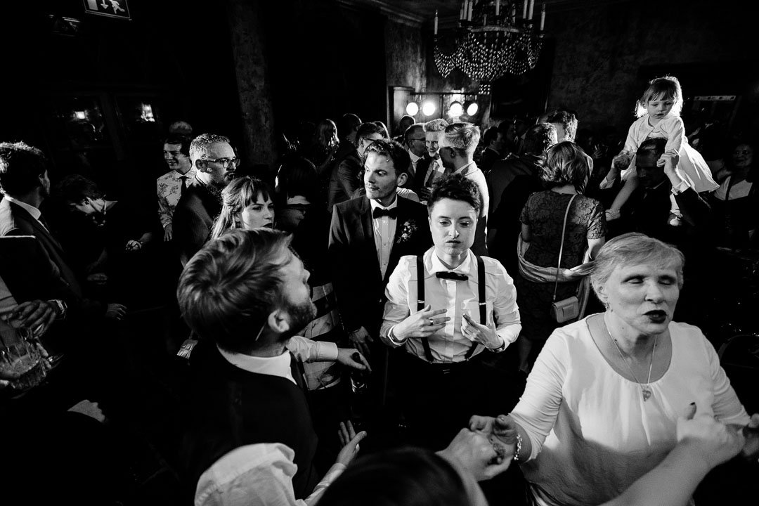 dancing at The Pig wedding