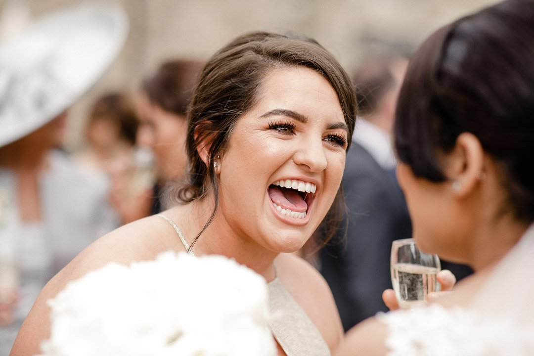 laughter from the bridesmaids