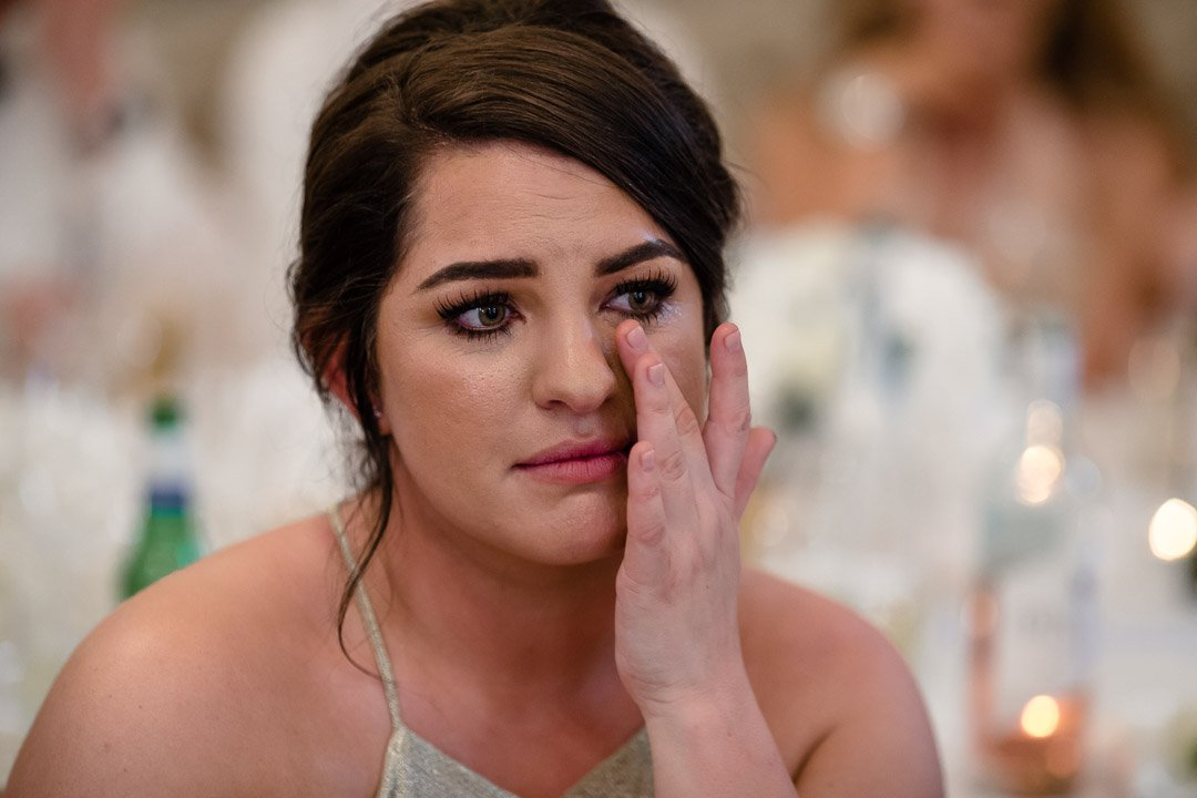 crying bridesmaid