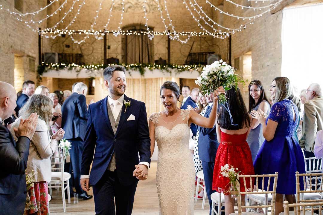leaving the wedding ceremony