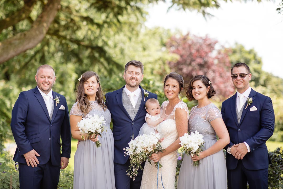 The bridal party photo