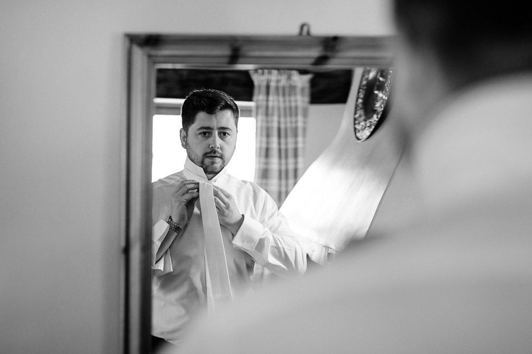 Tom getting ready