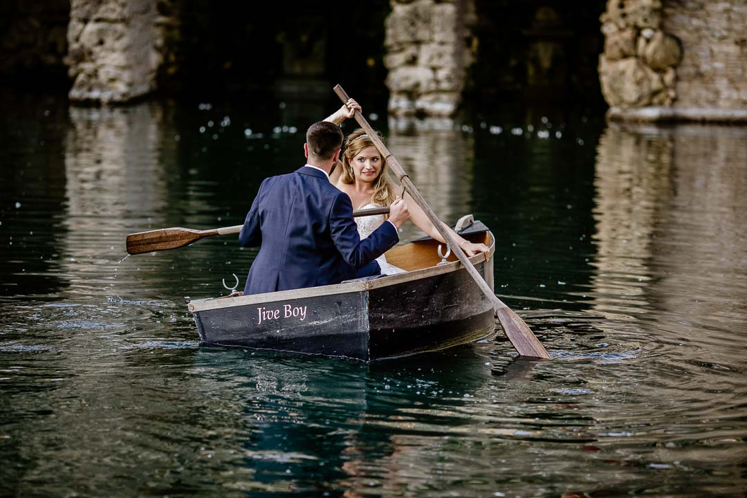 The Lost Orangery rowing boat