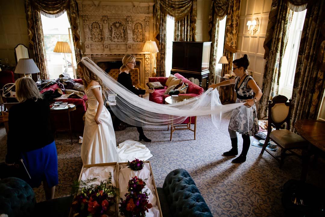 Bridal prep at Cliveden House