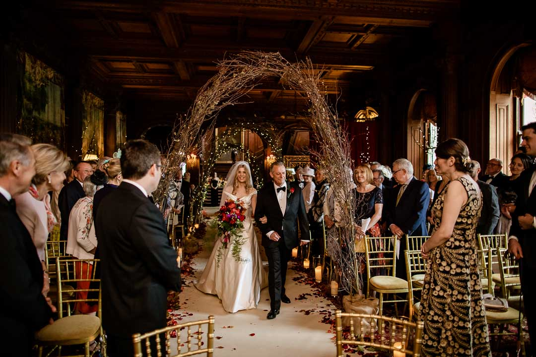 Wedding ceremony at Cliveden House