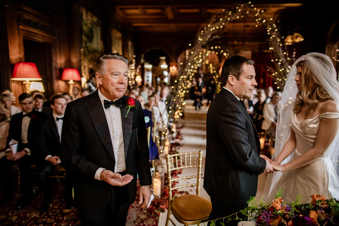 Father acting as Best Man at Cliveden House