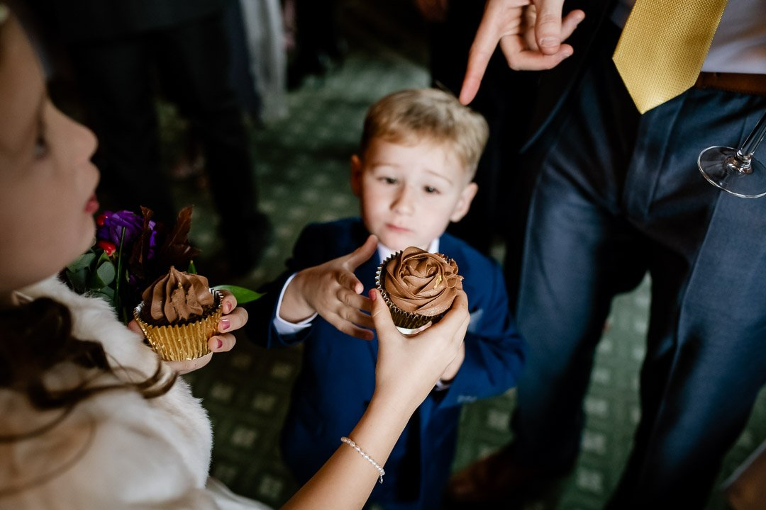 Sharing the cupcakes at Cliveden House