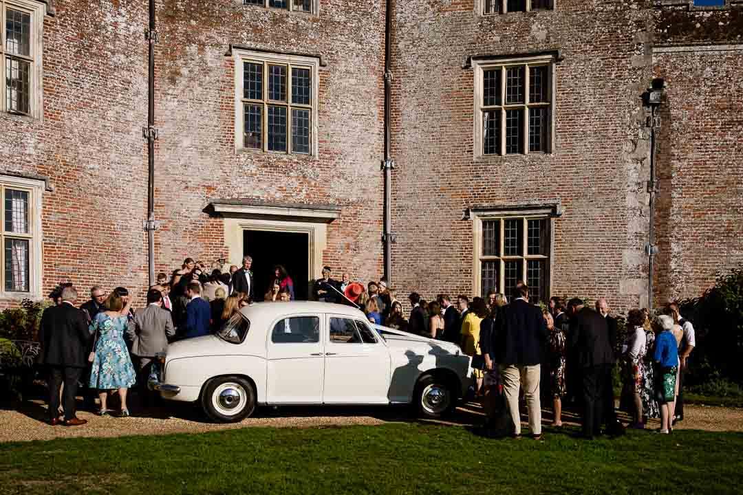 Newhouse Estate Wedding, the bridal car