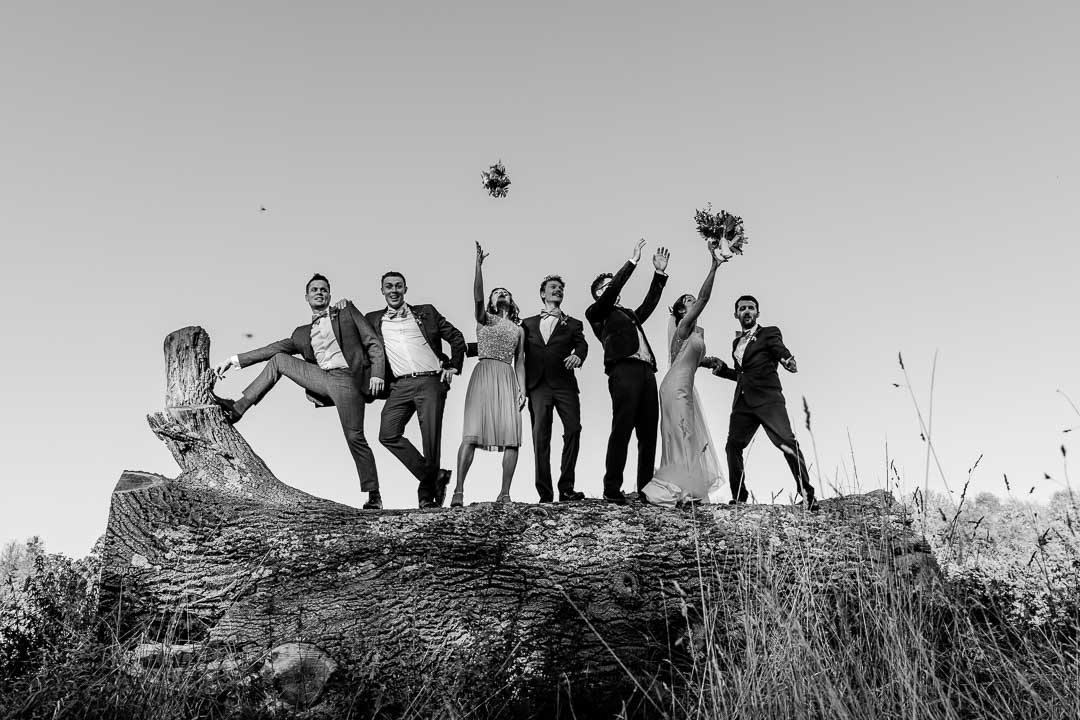 More fun with the bridal party