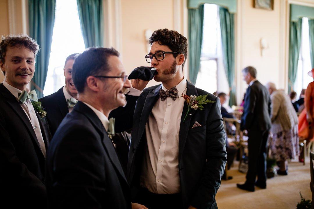 Newhouse Estate Wedding, thee groom