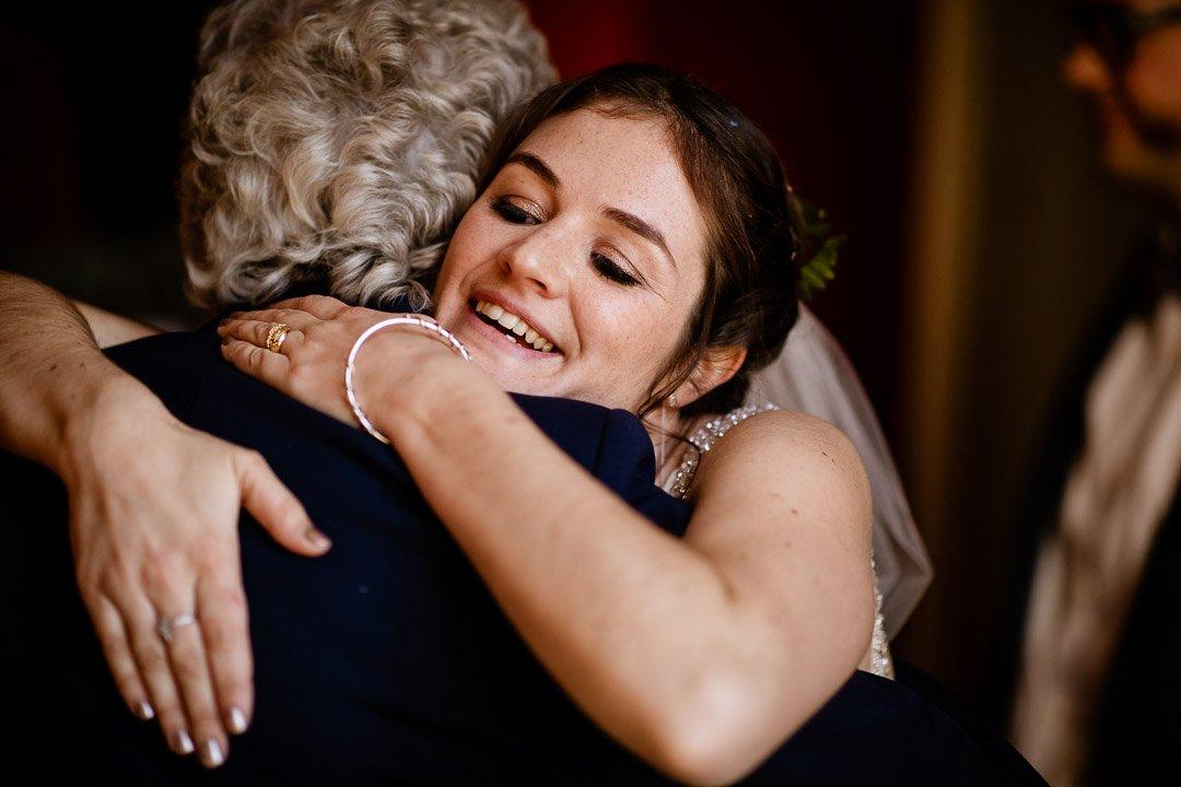hugging granny