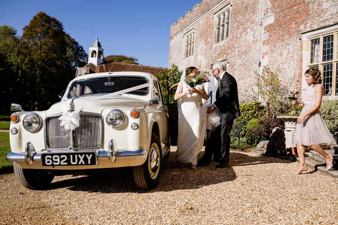 Newhouse Estate Wedding, the wedding car