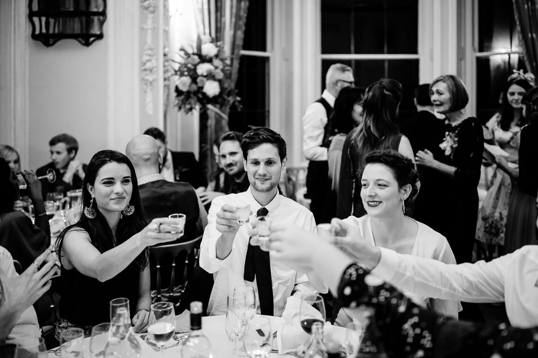 Guests cheers