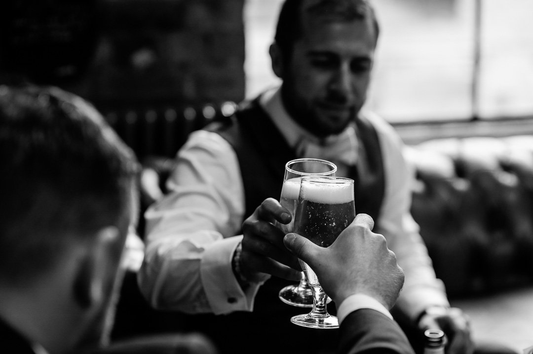 Cheers, pre wedding drinks
