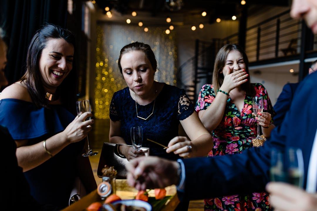 guests enjoying canapés