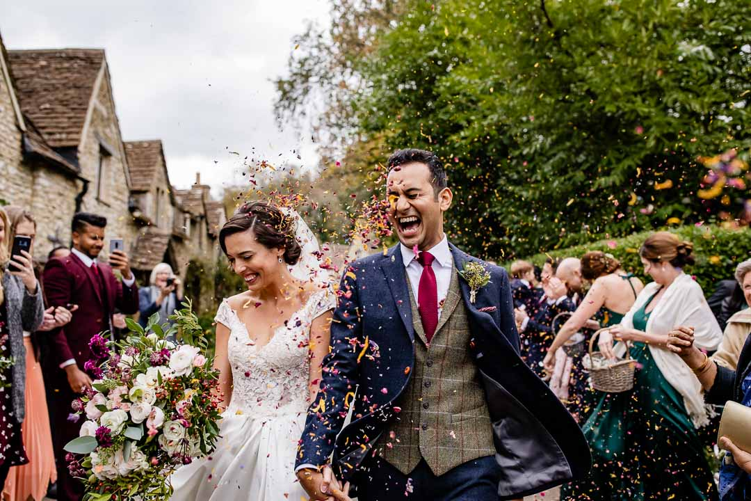 the Manor House Hotel confetti throw