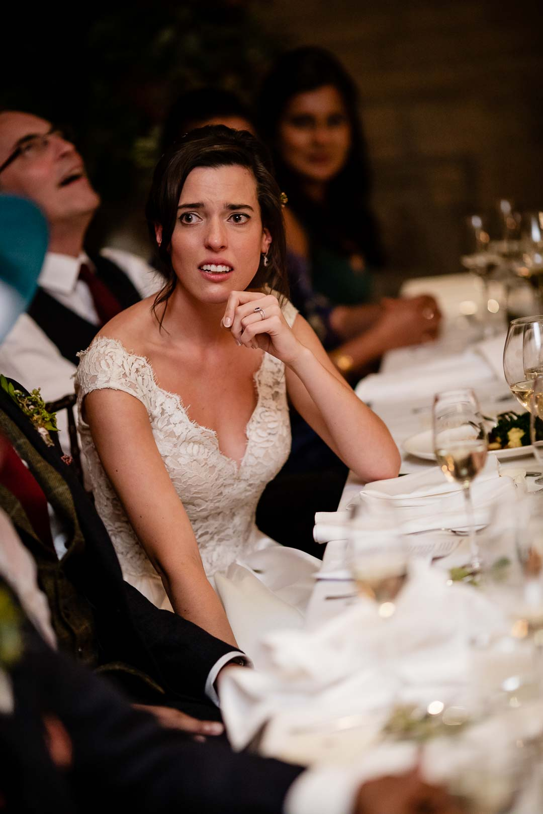 Bride looking sad