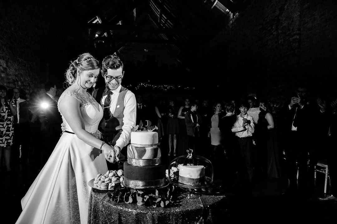 Cutting the cake at Priston Mill