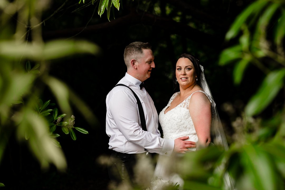 Bride and Groom portraits at Elmhay Park