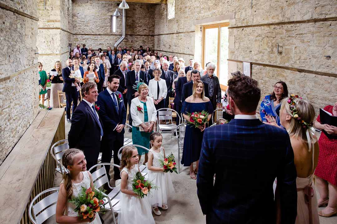 ceremony Old Barn Kelston