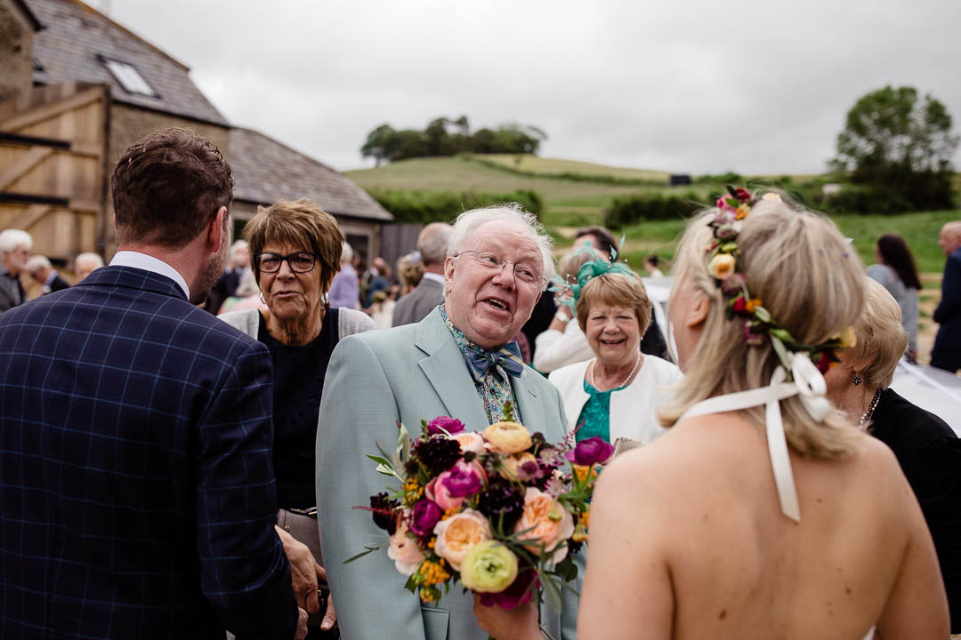 greeting guests Old Barn Kelston