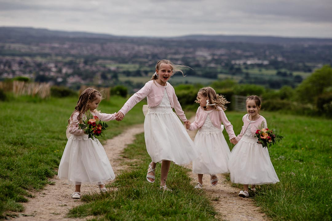 flower girls on the hill Old Barn Kelston