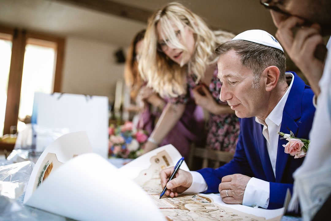 Jewish wedding signing