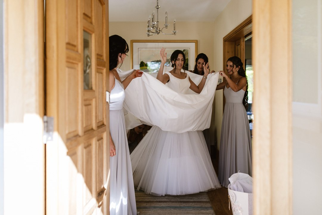 Bride ready to leave home