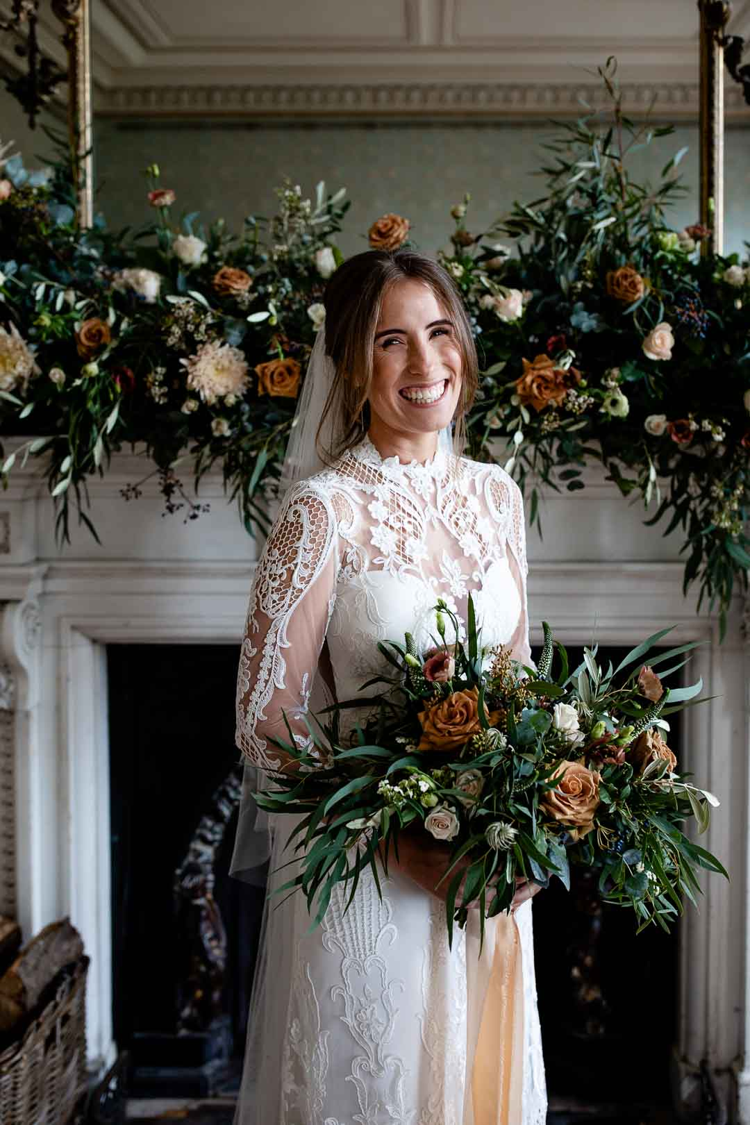 Alex and her wedding flowers