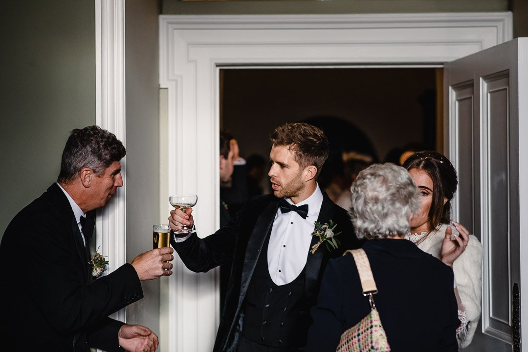 Luke Greeting the guests