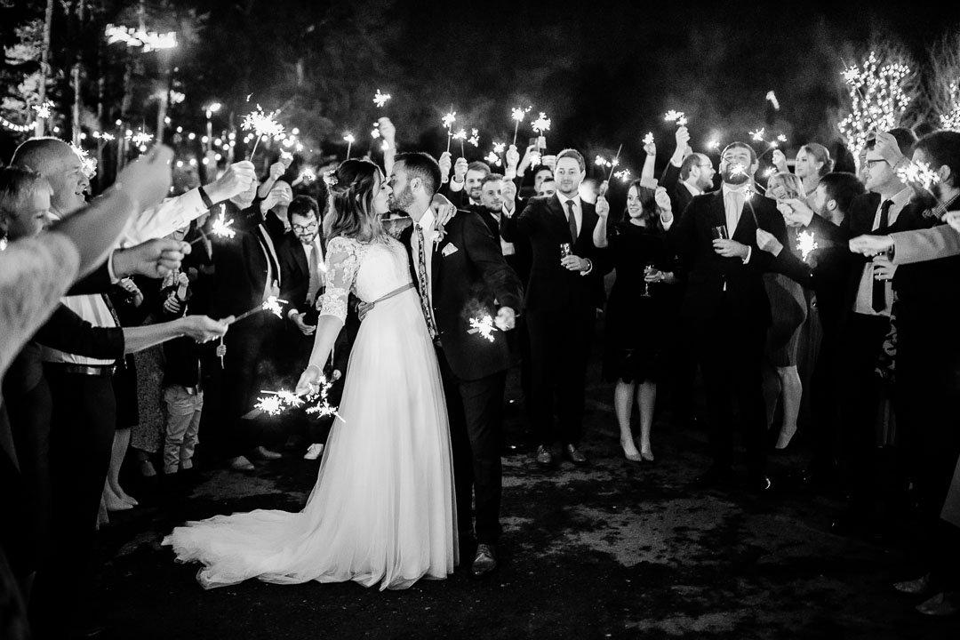 sparklers at Kingscote