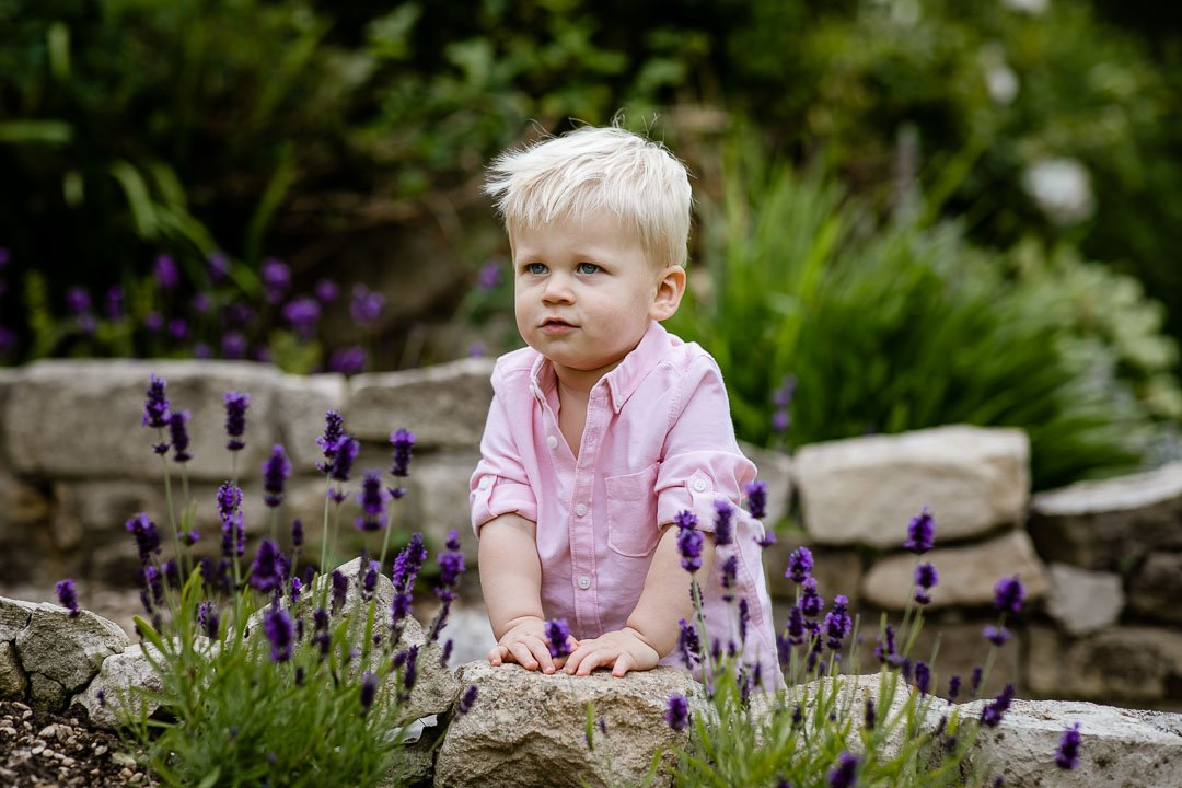 cute toddler wearing pink